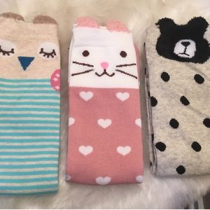 Accessories - Bundle of Animal Socks 3 Pair Lot
